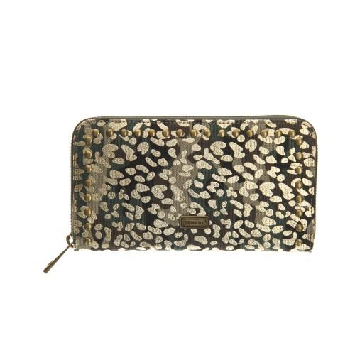 Billetera Animal Print Dorado