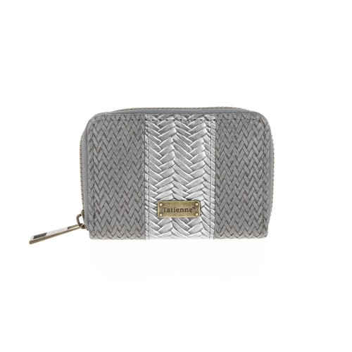 Billetera Chica Gris Braided Tatienne